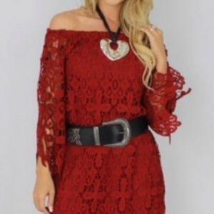 Dresses & Skirts - NEW Burgundy Lace Dress